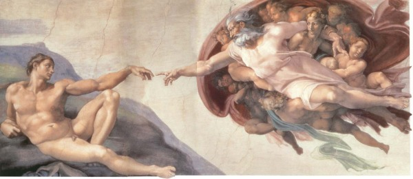 Michelangelo Buonarroti creation adam