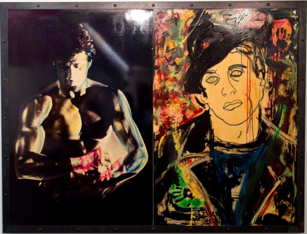 Sylvester Stallone painting