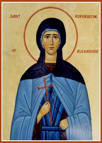 Резултат с изображение за Св. преподобна Ефросиния Александрийска