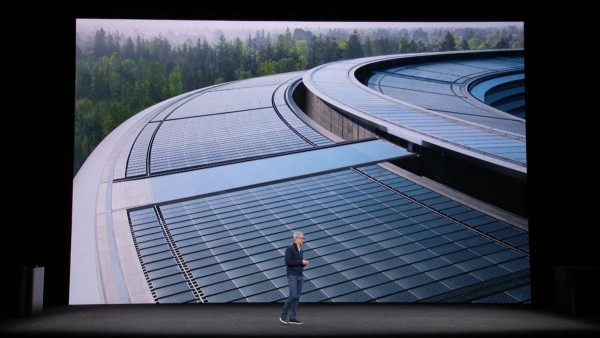 Steve JobsTheater is powered 100% by solar energy