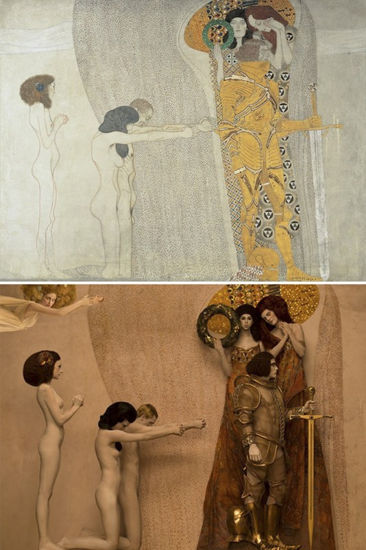 gustav-klimt-famous-paintings-real-life-models-photographer-inge-prader-6